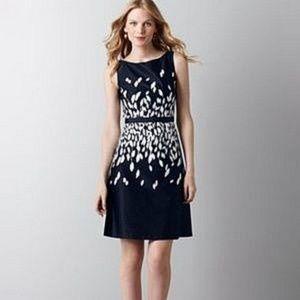 LOFT Leaf Print Dress 🍃